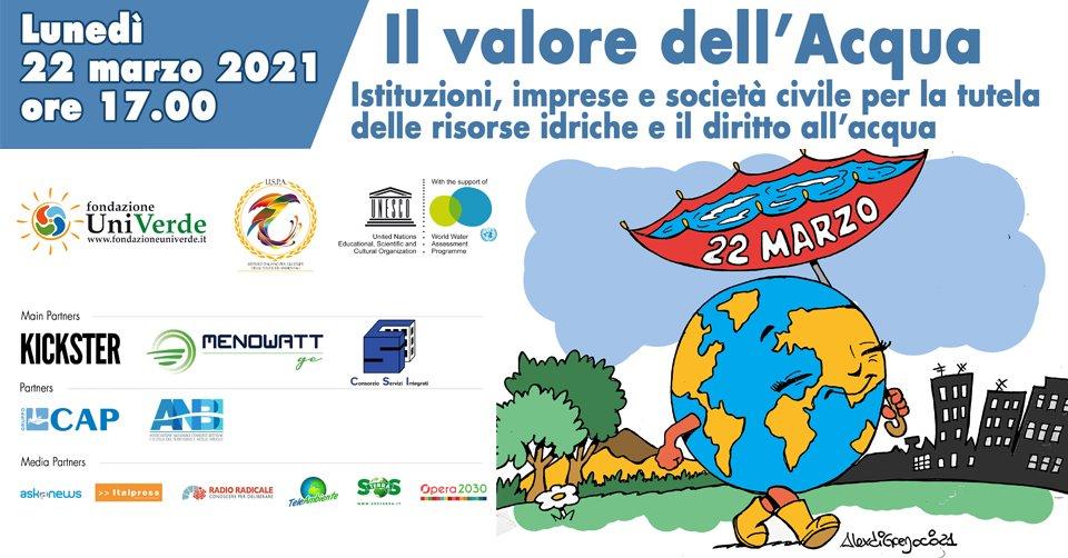 La web conference si terrà il 22 marzo, Giornata Mondiale dedicata all'Acqua