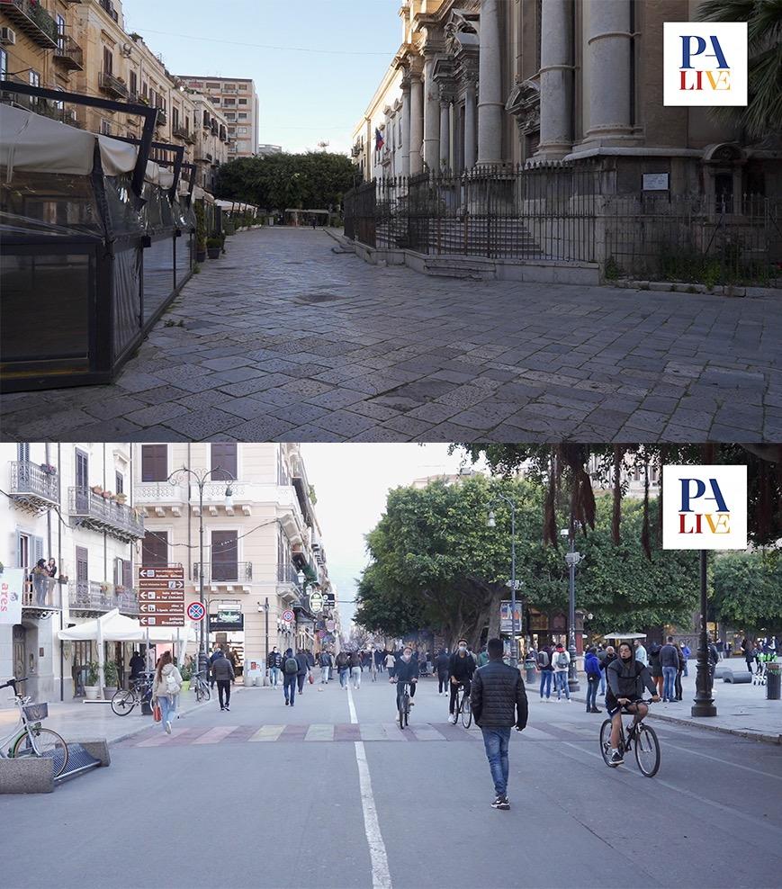 Movida prima e dopo il covid, Palermo