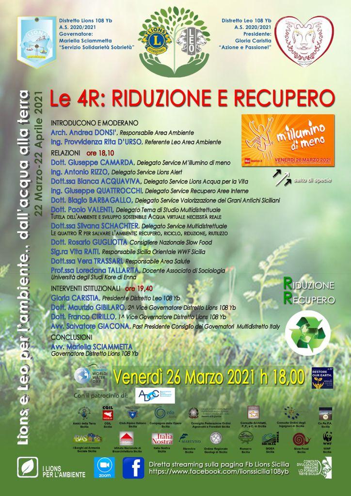 Le 4R: riduzione, recupero, riciclo e riutilizzo