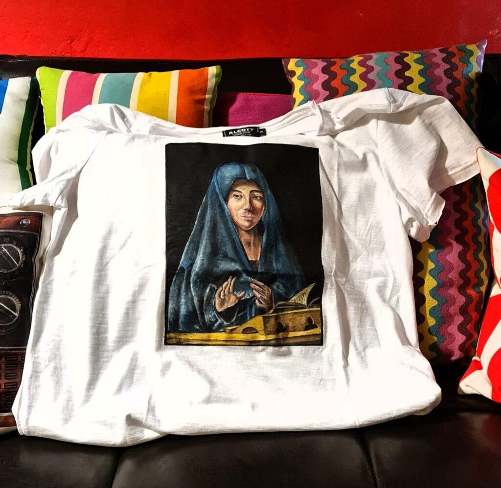 Attingere dall'arte classica per abbinarla a una t-shirt: una delle idee di Fabio Pannizzo