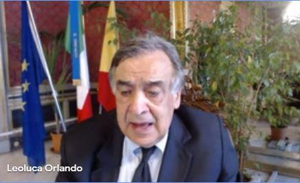 Leoluca Orlando in conferenza