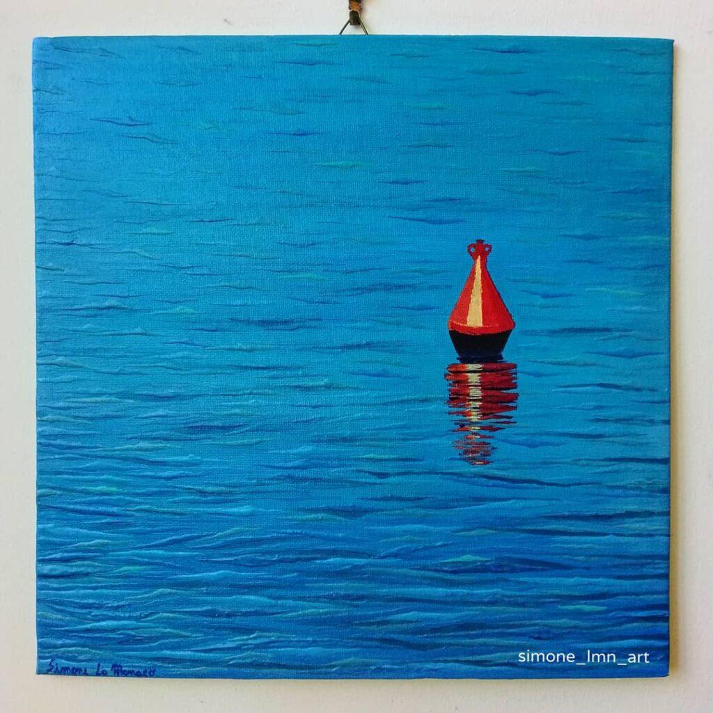 Il mare è uno degli elementi ispiratori più ricorrenti nelle opere di Simone Lo Monaco