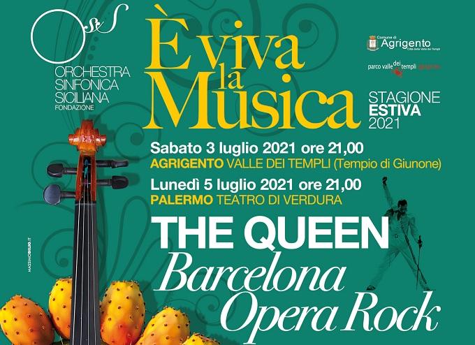 """La locandina di """"The Queen, Barcelona Opera Rock"""" spettacolo nel quale si esibirà Desirèe Rancatore"""