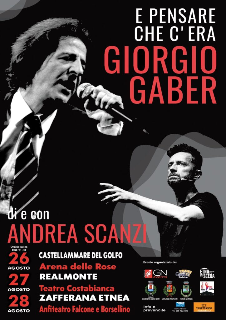 Il giornalista in Sicilia con lo spettacolo dedicato al grande artista milanese