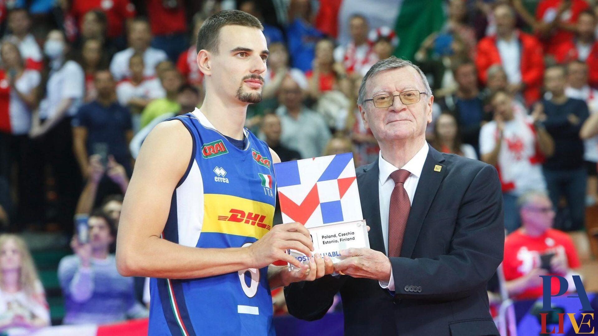 Italvolley Simone Giannelli (premiato MVP della manifestazione) - foto CEV